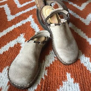 Born sling back miles in tan. GUC. Size 38/7